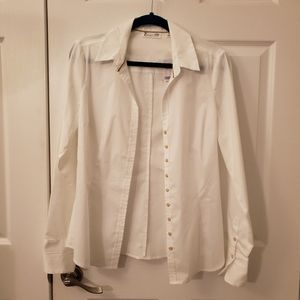 NWT white button up shirt